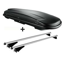 skibox Negro vdp juxt 400 LITRO + barras de techo aluminio Seat Altea XL desde