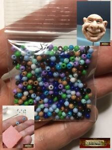 M00016 MOREZMORE 400 Beads 3mm Animatable Eyeball Eye Iris Stop Motion Puppet