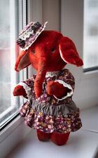 Artist Baby Elephant Vintage Antique Art Doll Stuffed OOAK Collectibles
