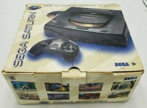Sega Saturn Console & Box Only Fair Condition Works