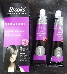Brooks Hair Straightener Cream With Brooks Neutralizer   60 Gram Each
