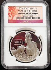 2014 TOKELAU ~ YEAR OF THE HORSE ~ NGC PF69 ~ FREE SHIPPING