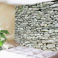 1PC 3D Grey Stone Brick Decorative Tapestry Wall Hanging Living Room Home Decor