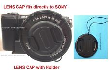 FRONT SNAP-ON LENS CAP DIRECTLY to CAMERA SONY ALPHA A5100 +HOLDER, ALFA A 5100