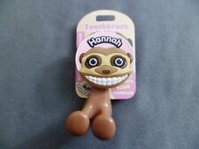 "Personalized Monkey Toothbrush Holder ""Hannah"" New Fun Gift Kids Bath Accessory"