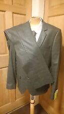 "BNWT Topman Skinny Fit Suit, Jacket 42R Pants W34"" L32"" Grey Check RRP £140 NW5"