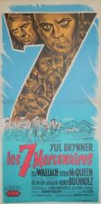"""LES 7 MERCENAIRES (THE MAGIFICENT SEVEN)"" Affiche originale entoil. Yul BRYNNER"