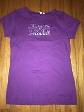 HPNOTIQ Purple Womens T-shirt Harmonic Live Louder Hypnotic Hipnotic Hypnotiq L