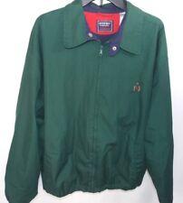 Vintage Bugle Boy Classic Mens Green Blue Full Zip Jacket Size XL