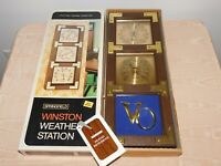 VINTAGE SPRINGFIELD WINSTON WEATHER STATION VODKA THERMOMETER BAROMETER  in BOX