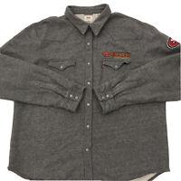 Vintage Levi's San Francisco 49ers Mens Snap Button Sweater Jacket Gray Size 2XL