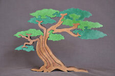Green Summer Twisted Tree Wood Puzzle Toy Amish Made in the Usa