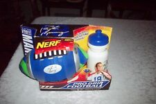 Peyton Manning Nerf Pro Grip Football With Water Bottle W/Orig Package All Mint