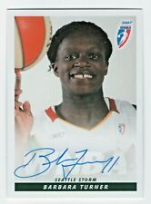 2007 WNBA Authentic Original Autograph Barbara Turner Seattle Storm