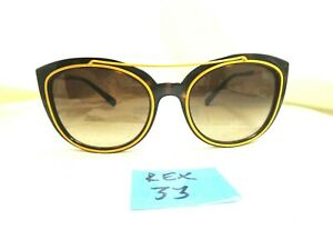 Versace Sunglasses 4336 108/13 Yellow Black Cat Eye Shape Women's (REX-33)