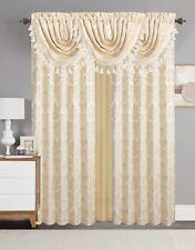 Empire Home Traditional Jacquard Olivia Window Curtain Panel/ Valance Drapery