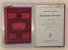 Hebel Ausgewählte Erzählungen des Rheinländischen Hausfreundes um 1890 sf