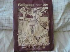 Folkwear 209 Victorian Walking Skirt Costume Sewing Pattern Sz S-M-L USED 1980