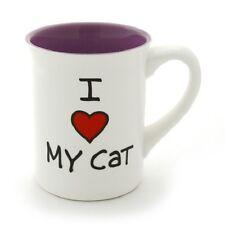 I love heart my cat-OUR NAME IS MUD-ceramic 4033465  gift coffee mug Enesco red