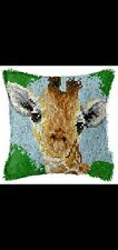 New listing Latch Hook Pillow Kit - 15.7 X 15.7 Inches - Giraffe