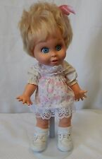 "Vintage Galoob 1990 Baby Face 13"" Doll #7 So Innocent Cynthia blonde hair blue"