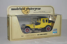 MATCHBOX LESNEY MODELS OF YESTERYEAR #Y-7 1912 ROLLS ROYCE, YELLOW, BOXED