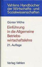 Einführung in die Allgemeine Betriebswirtschaftslehre vo...   Buch   Zustand gut