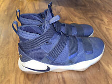 Nike Midnight Blue Gold Lebron Soldier XI 897644 402 Shoes Men's Size 13
