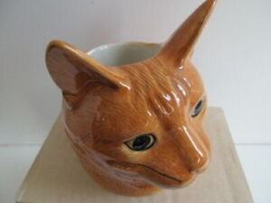 Delightful  Ginger Cat  Ceramic Egg Cup By Quail Pottery Boxed