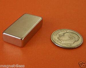 4 Strong 1x1/2x1/4 Inch Grade N42 Rare Earth Neodymium Block Magnet