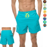 Men's Quick Dry Swim Trunks Bathing Suit Beach Shorts with Mesh Lining Nylon