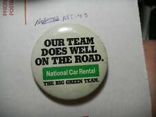 Button Pin National Car Rental Big Green Team badge employee does well on road