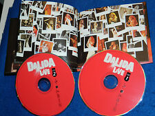 LOT 2 CD DALIDA live INSTANTS D'EMOTIONS avec livret photo du concert LIVRE foto