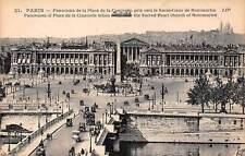 France Paris Panorama of Place de la Concorde, Sacred Heart Church of Montmartre
