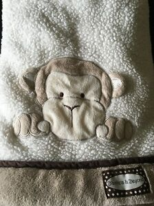 Blankets & Beyond Sherpa Monkey Baby Tan Cream