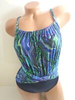 Women's Magicsuit Agate Jerry Underwire One Piece Swimsuit Navy Blue Size 10