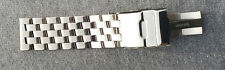22mm Solid Polished Mirror Cross Stainless Steel Watch Band,Bracelet Fit ALL