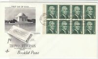 united states 1968 booklet pane stamps cover ref 20023
