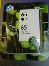Genuine HP 65 Black / 65 Tri-color Ink Cartridges Combo NEW Exp 2019