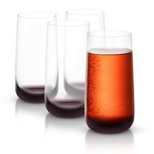 JoyJolt Black Swan Highball Glasses, 18.2 Oz Set of 4