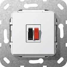 Lautsprecheranschluss 1f Einsatz Reinweiß 569203