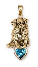 Tibetan Spaniel Pendant 14k Yellow Gold Vermeil Dog Jewelry TS3-SPVM