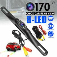 170° Car Rear View Reverse Backup Parking Camera Night Vision Waterproof 8LED