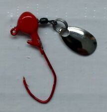 20ct White spinner jig with #1 red Eagle Claw Lil/' Nasty hook 1//8oz