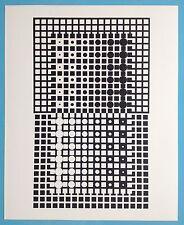 Victor VASARELY X Offset Originale de 1973 Op Art Optique Cinétique 44ans