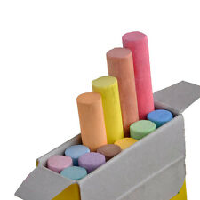 12 Coloured Chalk Sticks Quality Blackboard Tool Box Chalkboard  White,Chalks
