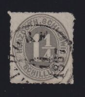 Germany Schleswig-Holstein Sc #11a (1867) 1&1/4s gray lilac Numeral Used