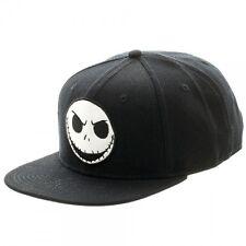 Disney NBX Jack Skellington Black Snap Back Adjustable Hat