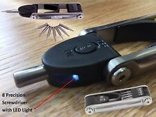 Rolson Compact 9 In 1 Precision Screwdriver & Bit Set With LED Torch