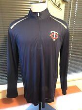Minnesota Twins Majestic Navy Long Sleeve Pullover CoolBase Jacket Size L Large